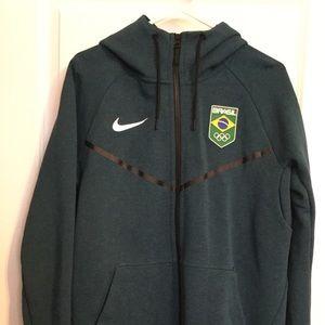 Men's, Nike- Olympics, Tech Fleece Hoodie. Brazil